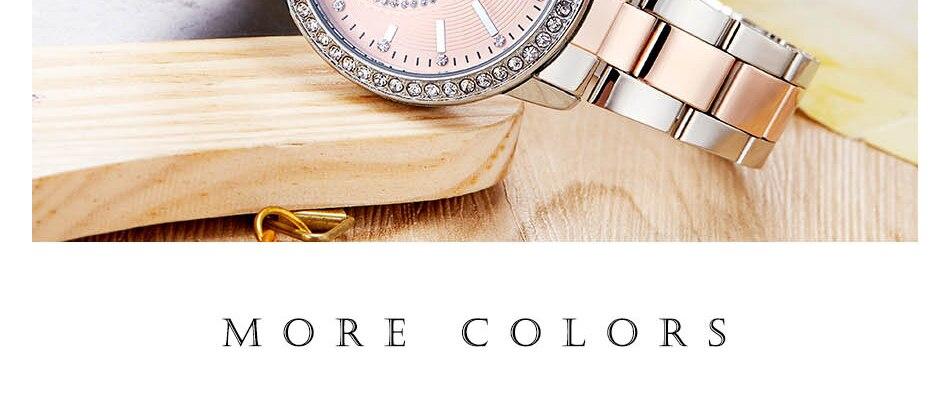 Shengke relógio de pulso feminino relógios de