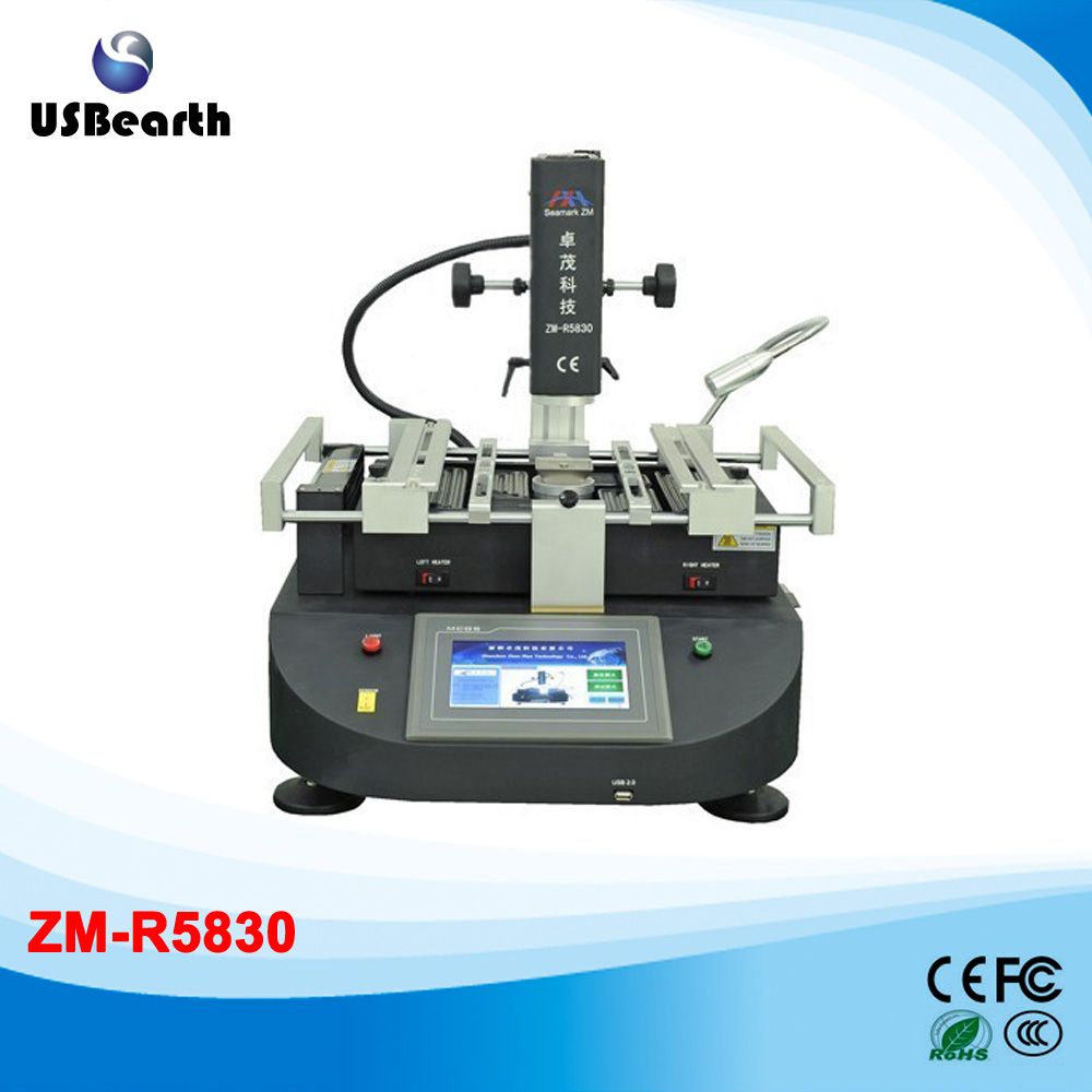 ZhuoMao ZM-R5830 Three Temperature Zones Hot air BGA Rework Station with touch screen control panel,Free tax to EU shuttle star sp380iitouch screen hot air bga rework station sp 380ii free tax to russia