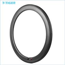 7-TIGER 2 pieces carbon tubular rim U shape 60mm depth 25mm width  Carbon Fiber Road wheels Rims 3k/ud/12k  front 20h rear 24h