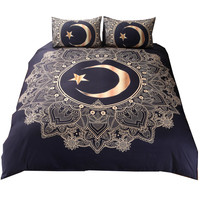 Mandala 3d Star Galaxy Bedding Set Bohemian Duvet Cover Print With Pillowcase 3Pcs Design Bedline