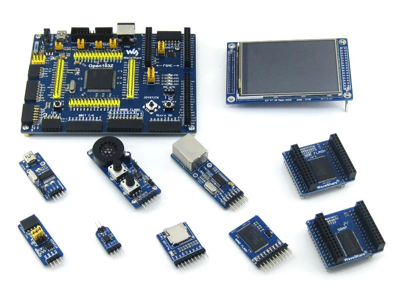 STM32 ARM Cortex-M3 Open103Z  Development Board STM32F103ZET6+ 9 Accessory Modules +PL2303 USB UART Board= Open103Z Package ASTM32 ARM Cortex-M3 Open103Z  Development Board STM32F103ZET6+ 9 Accessory Modules +PL2303 USB UART Board= Open103Z Package A