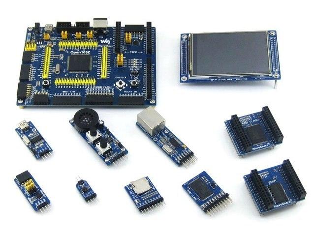 STM32 ARM Cortex-M3 Open103Z  Development Board STM32F103ZET6+ 9 Accessory Modules +PL2303 USB UART Board= Open103Z Package A