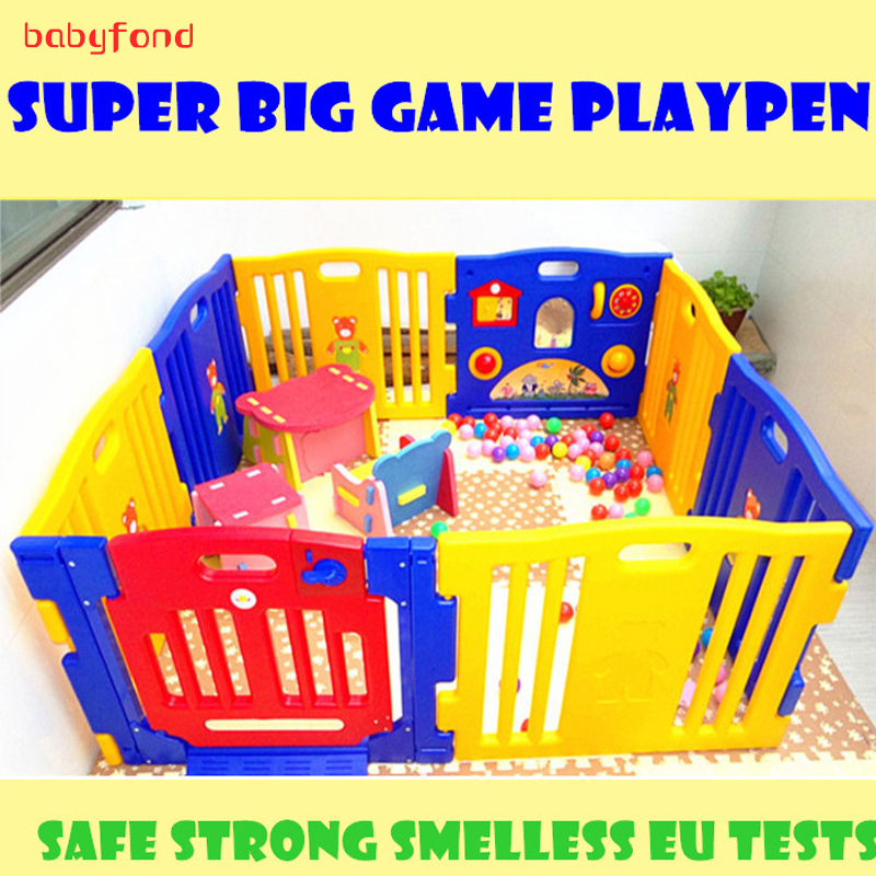 No smell Export  Baby Game Playpen colorful  Strong Game Fence l Baby Toy Fences 10+2 pcs baby play mat garden 530cm женские чулки export