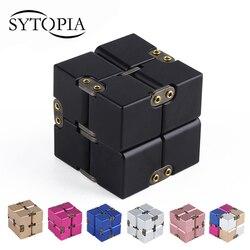 Премиум металл Бесконечность Cube Непоседа игрушки алюминия деформации волшебный бесконечно Cube Непоседа игрушки снятие стресса для EDC беспо...