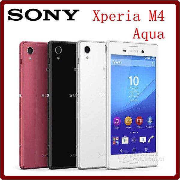 Цена за Оригинальный Разблокирована Sony Xperia M4 Aqua 3G & 4 Г Android Quad Core 13MP Камера 2 ГБ RAM 5.0 Дюймов Wifi GPS сотовый Телефон Восстановленное