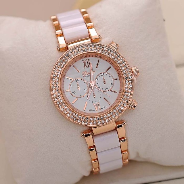 2018 Fashion Full Steel Bracelet Watch Women Watches Rhinestone Watch Clock saat