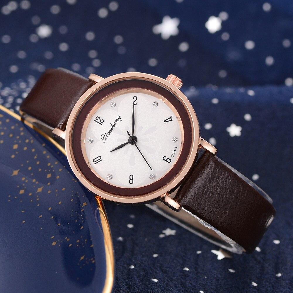 Fashion Women Wrist Leather Watch Luxury Quartz stainless steel Watch luxury brand casual gold women watches bracelet A40