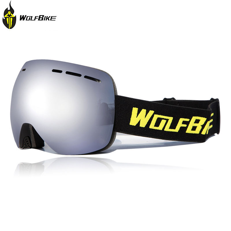 67d8082f5784 WOLFBIKE Cycling Goggles Ski Goggles Outdoor Double Anti-Fog Big Ski Mask  Glasses Skiing Men Women Motor Snow Snowboard Goggles