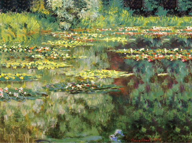 Claude Monet Water Lilies Still Life Art Picture Printed Oil Painting  Reproduction Canvas Wall Decoration Painting