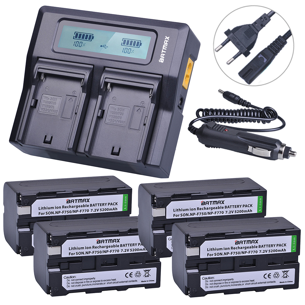цена на 4Pcs NP-F750 NP-F770 NP F750 NP F770 Battery + Rapid LCD Charger for Sony CCD-TR917 CCD-TR940 CCD-TRV101 CCD-TRV215 CCD-TRV25