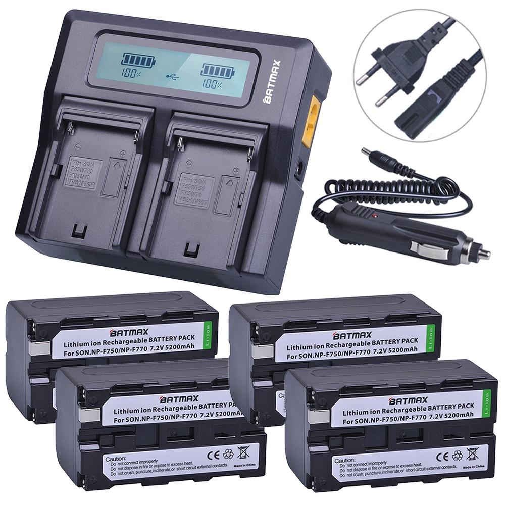 4Pcs NP-F750 NP-F770 NP F750 NP F770 Battery + Rapid LCD Charger for Sony CCD-TR917 CCD-TR940 CCD-TRV101 CCD-TRV215 CCD-TRV25 np f960 f970 6600mah battery for np f930 f950 f330 f550 f570 f750 f770 sony camera