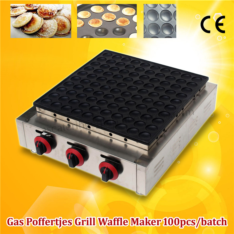 Commercial Gas Stainless Steel 100pcs Poffertjes Mini Dutch Pancake Grill Machine Brand New