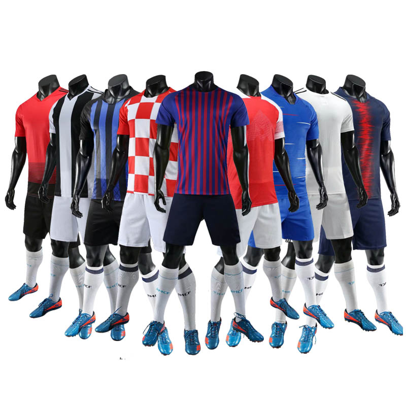 Shinestone New Adults Kids Football Shirts Fashionable 100% Polyester Soccer  Jersey Sets Custom Big Size Soccer Jersey Set 33fe02567