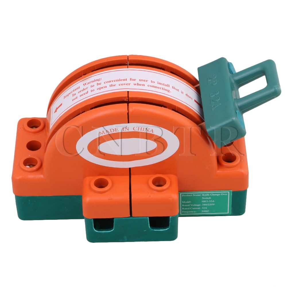 цена на CNBTR 32A 2 Pole Double Throw DPDT Bidirectional Knife Safety Disconnect Switch