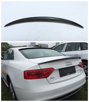 Auto Carbon Fiber Spoiler For Audi A5 S5 Coupe ( 2 Door ) 2009 2017 High Quality Wing Spoilers Car Accessories