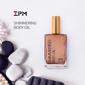 ZPM Luxe Multi-Purpose Hydrating Body Oil with Bronze Tanning Lotion Natural Solarium Highlighter Oil Moisturizing Bronzer 100ml natural moisturizing body lotion