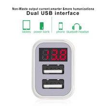 2.1A Auto Ladegerät Digital Display USB Adapter Auto-Ladegerät Doppel USB Port Für Tablet, Kamera, Navigator, MP3 Schnelle lade