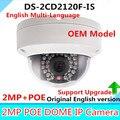 Оригинальный OEM Английская Версия DS-2CD2120F-IS Мини Купольная Камера Full HD 2-МЕГАПИКСЕЛЬНАЯ 2.8 мм Поддержка POE & TF Слот Для Карты Ip-сеть ВИДЕОНАБЛЮДЕНИЯ камера