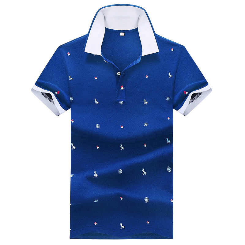 Модные рубашки-поло 2019, рубашки-поло с коротким рукавом, мужская повседневная брендовая одежда, деловая Мужская дышащая летняя рубашка-поло для мужчин