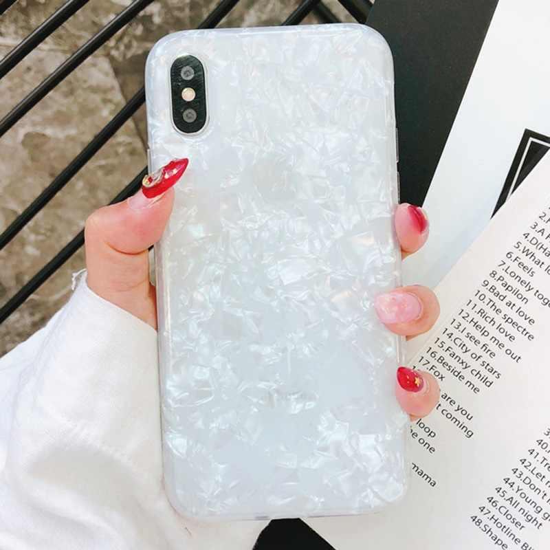 ... Sparkle Glitter Gradient Conch Shell Sea Silicone Case For iPhone 8 7  6s Plus X 10 ... 786b70f9ea9f