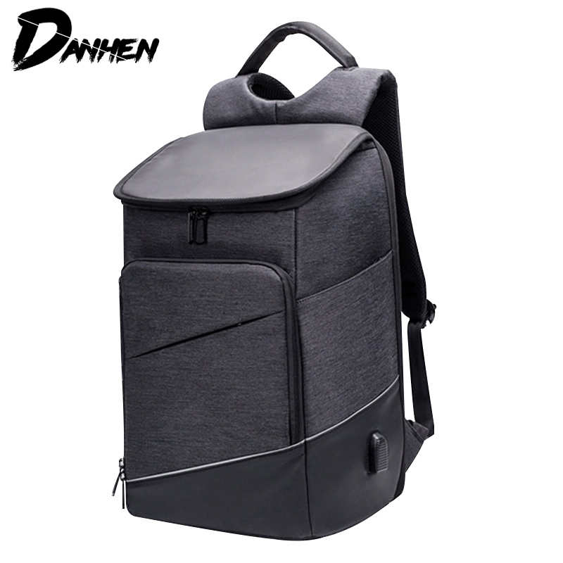 DANHEN Fashion Men Anti Theft Backpack Waterproof Men USB Charging Backpack With Plug Business Travel Bag For Women Backpack