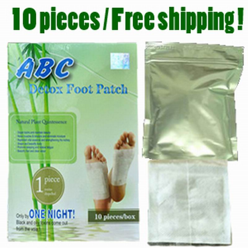 Free shipping! 10 pieces detox foot patch, pad with adhesive, bamboo health care foot sticker, cleansing your body, good sleep