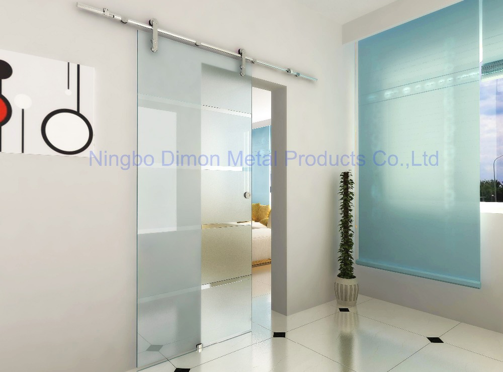Купить с кэшбэком Dimon Stainless steel door hardware glass sliding door hardware hanging wheel high quality sliding door hardware DM-SDG 7002