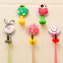 Creative Cute Cartoon Animal Family Suction Cup Toothpaste Toothbrush Rack Multi-Style Optional Firmly Fixed On The W