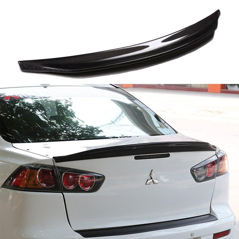 Bec de canard aileron aile de coffre arrière en Fiber de carbone pour Mitsubishi Lancer EX 2009-2015