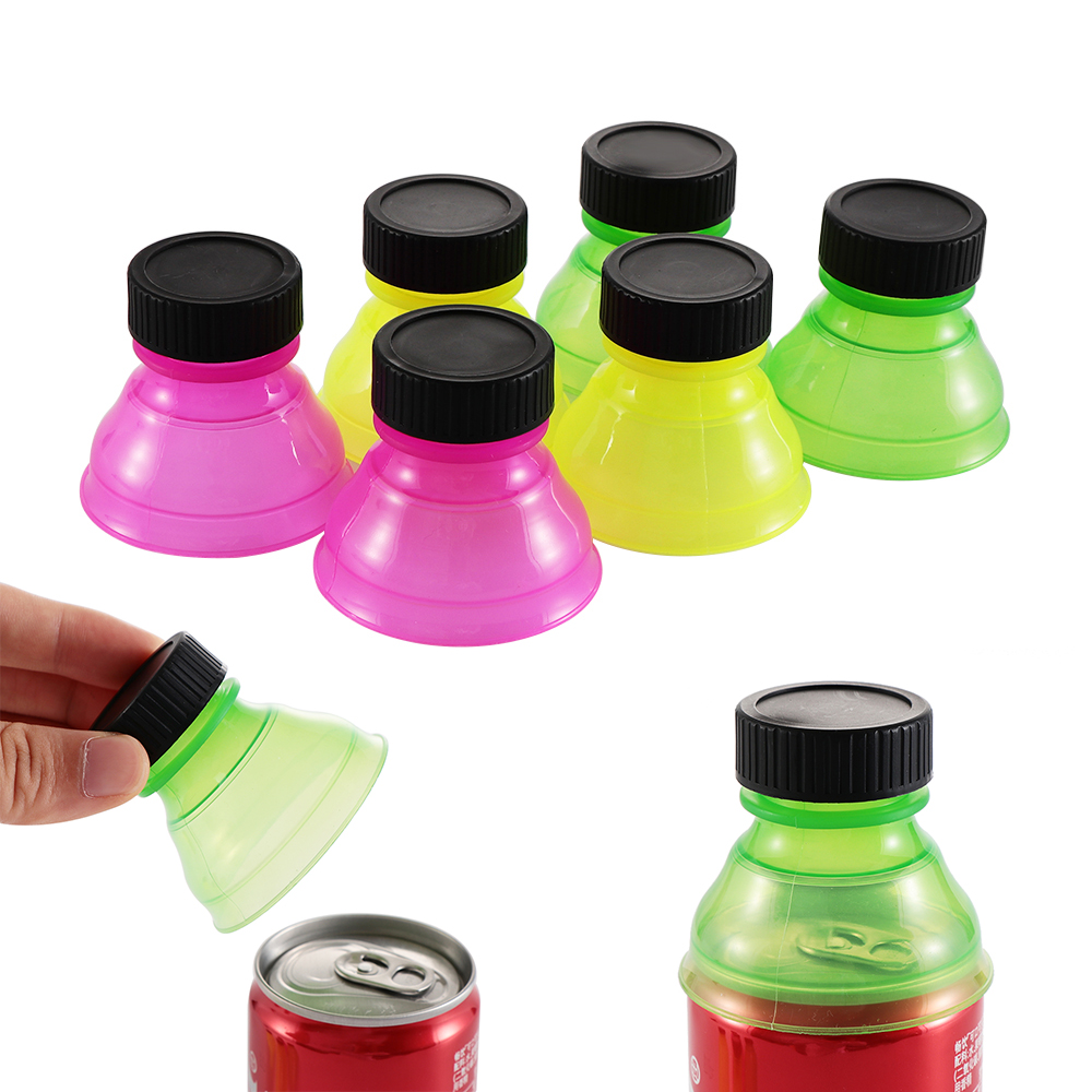 1/3/6Pcs Soda Saver Pop <font><b>Beer</b></font> Beverage Can Cap Flip Bottle Top Lid Protector Snap On <font><b>Cup</b></font> Cover Water Dispenser Insulated Dropship image