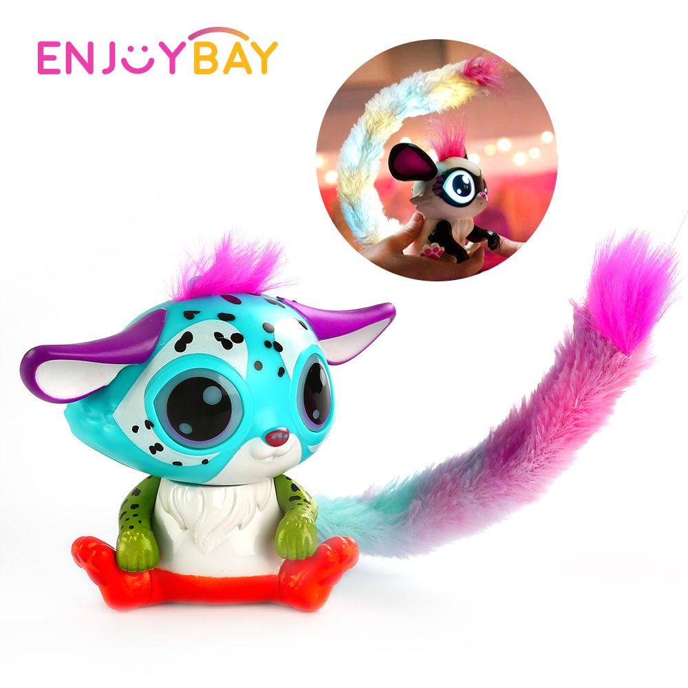 Cute Plush Toy Acousto optic Touch Interactive Pet Magic Color Tail Fox Figure Kids Educational Toy Christmas Gifts for Children in Stuffed Plush Animals from Toys Hobbies