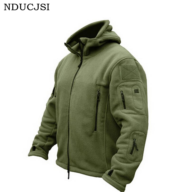 Men Fleece Military Jacket Sportswear Thermal Tactical Jacket Fleece Jacket Mens Jack Worsted Jaquetas Masculina Deportes S055 ...