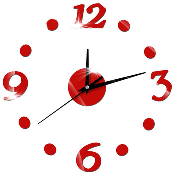 Nowoczesne akrylowe DIY zegar ścienny cichy cyfrowy zegary ścienne dla pokoju gościnnego unikalne kwarcowy naklejka-zegar na ścianę dekoracja domu