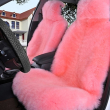 цена на Natural Fur Short Sheepskin Car Seat Covers Universal Size Automobile Accessories
