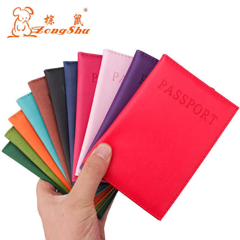 Multi-color PU Leather Wallet card holder Travel Passport Holder Cover ID Card Bag passport cover (Custom available)