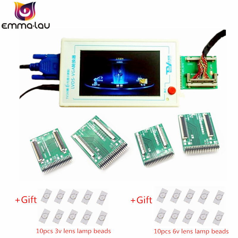 US $142 06 45% OFF Official TV160 LVDS Turn VGA Converter (With LCD Screen  Display Version) LCD/LED TV Motherboard Tester Tool + 5 Adapter Planes-in