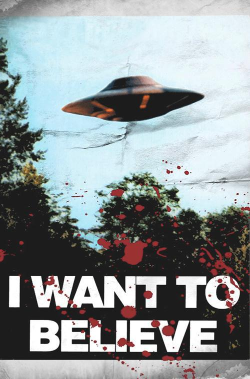 New Arrival Tv Poster X Files I Want To Believe Home Decor