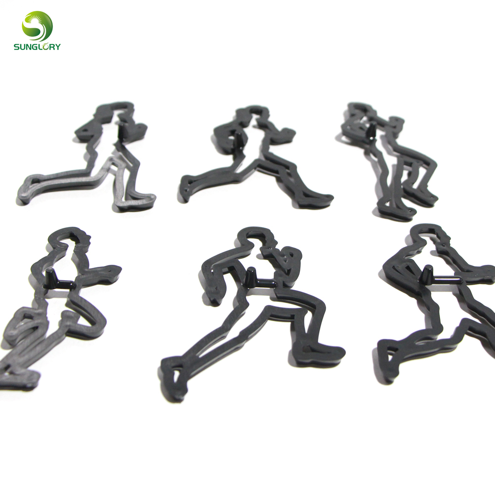 6PCS SET Running Theme Cookie Cutter Plastic Run Sports Fondant Biscuit Mold Cutter Sugarcraft Cake Mold Cake Decorating Tools in Cake Molds from Home Garden