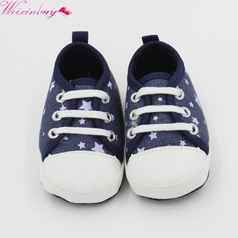 Newborn Baby Girl Boy Toddler Soft Sole Kids Boys Shoes Canvas Prewalker Lace Up Sneaker 0-18M Hot