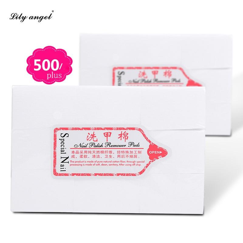 New Hot 500Pcs/bag Solid Durable Nail Tools Bath Manicure Gel Nail Polish Remover Lint-Free Wipes 100% Cotton Napkins For Nails