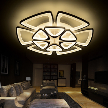 Brief modern Multilayer combination acrylic led ceiling light fixture home deco living room remote control flower ceiling lamp
