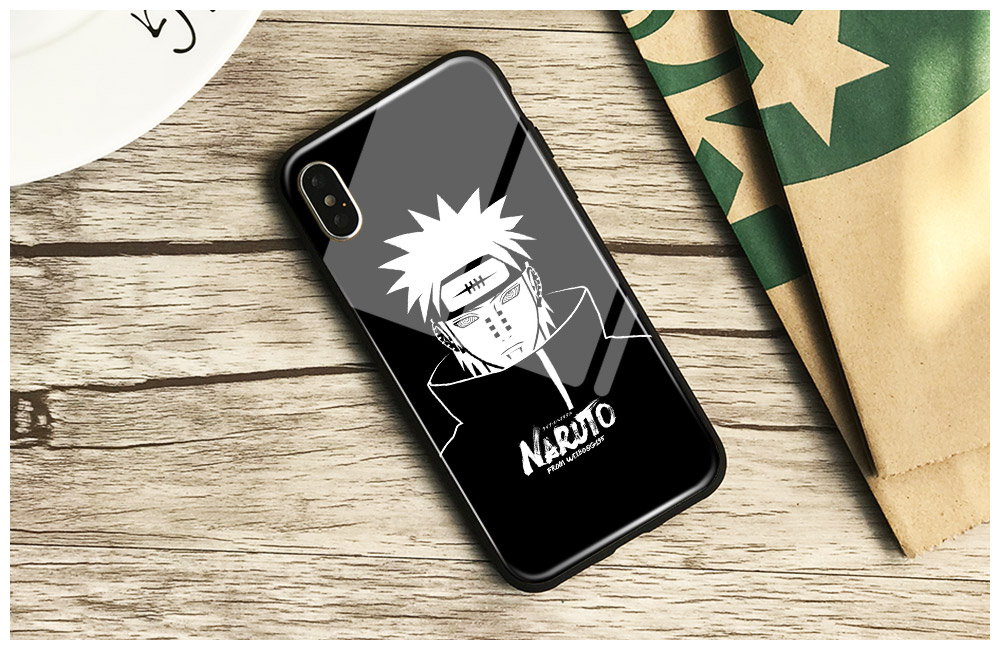 Pain naruto character Pein Tempered Glass Soft Silicone Phone Case Shell Cover For iPhone 6 6s 7 8 Plus X XR XS MAX