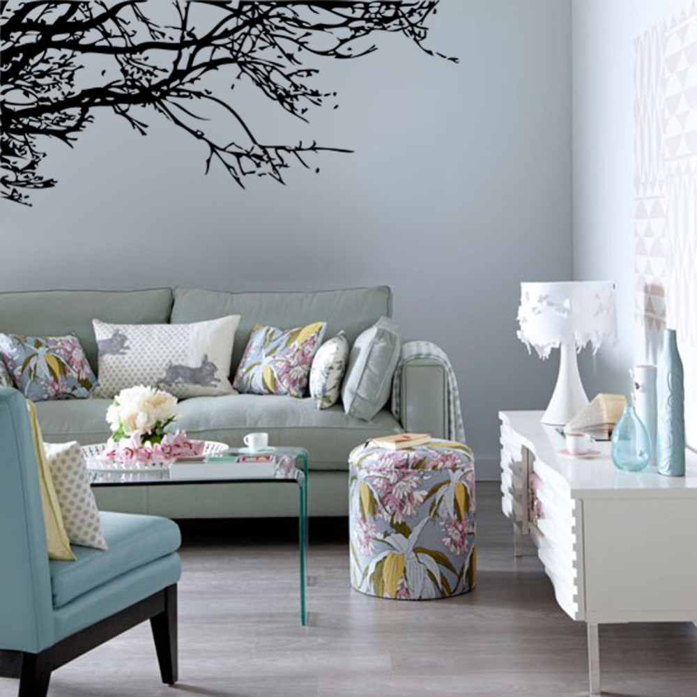Bedroom wall art trees - Black Tree Branches Removable Large Wall Decal Vinyl Stickers For Living Room Bedroom Home Decoration Wall