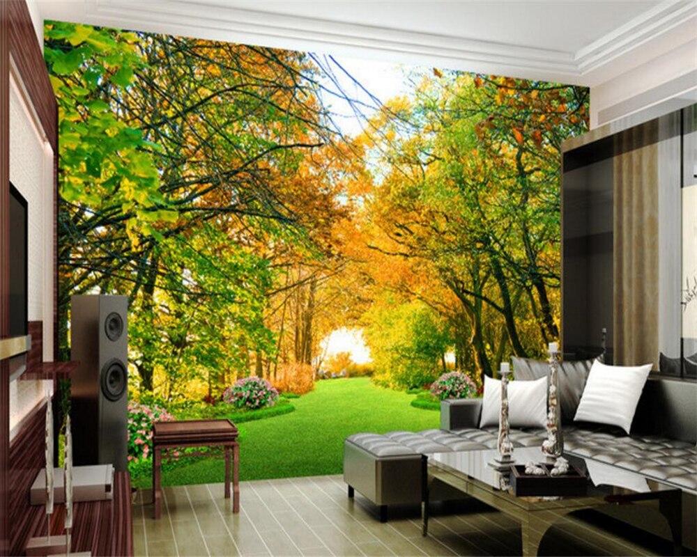 Beibehang Trees Landscape Photo Wallpaper murals Modern Home Decor ...