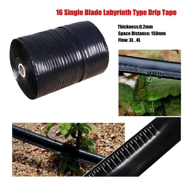 Wholesale 1000m 3L 4L 16mm 0 2mm Agricultural Single Blade Labyrinth Type Drip Irrigation Tape Water