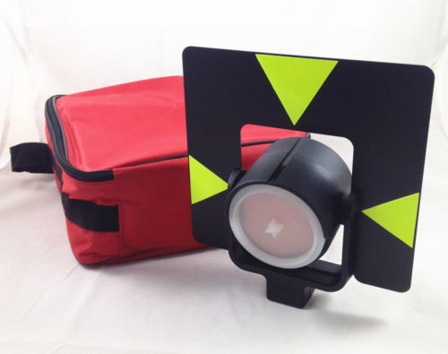 NEW EQUIVALENT PRISM WITH SOFT CARRYING BAG FOR total stations single prism with soft bag for leica type total stations