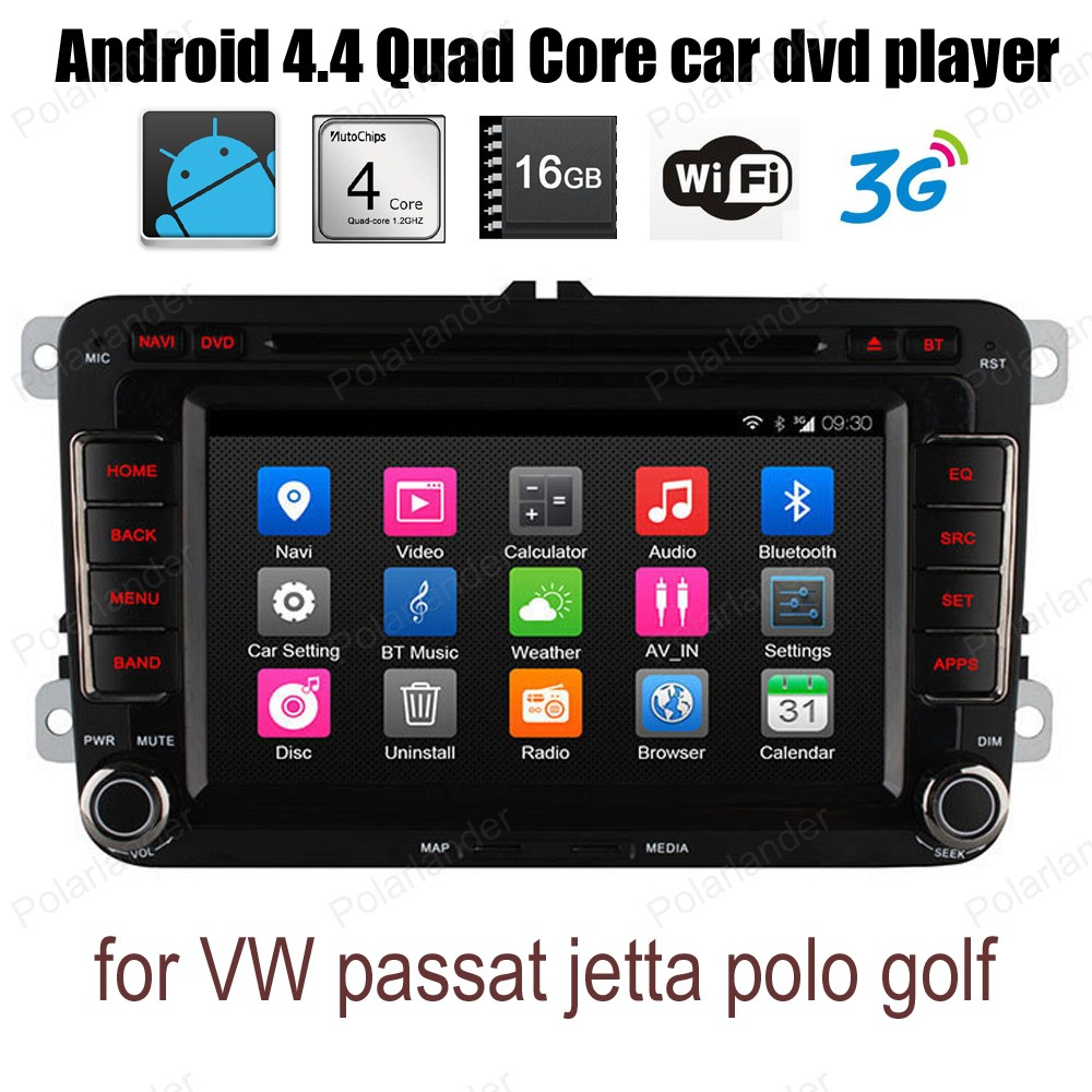 Android4 4 FM AM radio For VW passat jetta polo golf Quad Core support wifi 3G