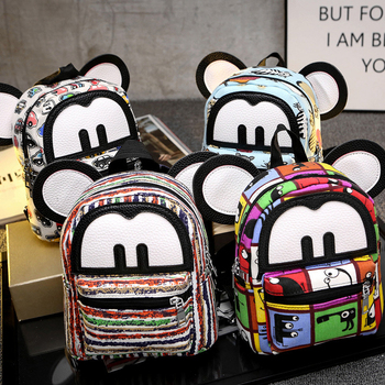 2018 Cute Mouse Backpack Small Women Backpack Girl Small Travel Bag Backpack Female Mickey Children Bag Rucksack Mochila Bagpack