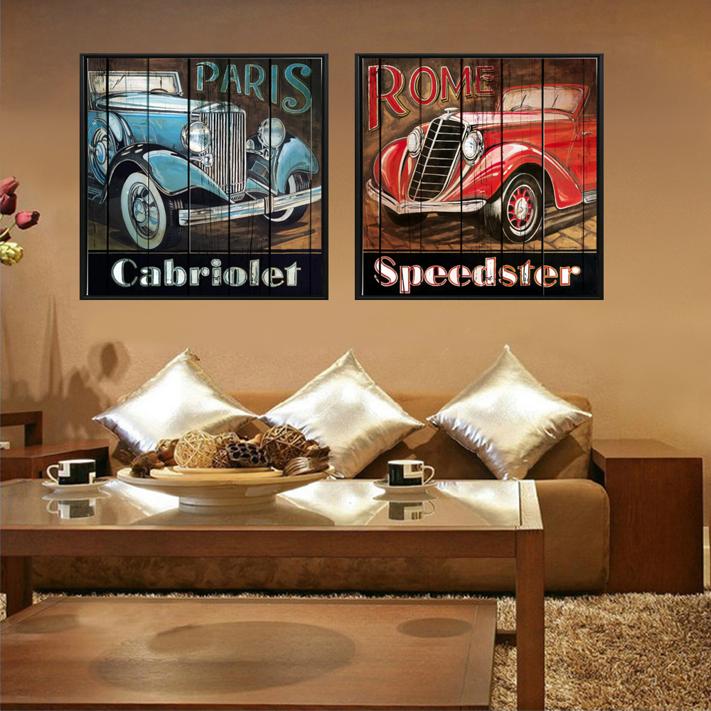 Vintage Classic Car Wall Art Posters Unframed Famous Classical Sports Car Home Decor Cuadros Pictures For Living Room Decoration