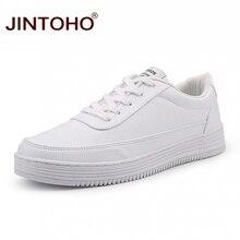 JINTOHO/белые кроссовки большого размера; дешевая мужская обувь для скейтбординга; спортивные мужские кроссовки; женская спортивная обувь; белая обувь унисекс